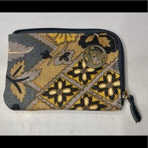 Spartina 449 in Silver Dew zippered coin pouch